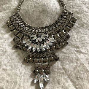 TOPSHOP silver statement necklace